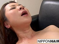 Japanese girl's boyfriend is so raunchy that discreetly makes her stepmom spread legs 8