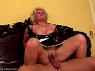 Grannies show they are still in good shape to be drilled and creampied by young guys 5