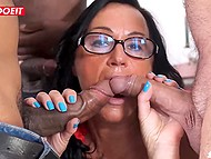 Italian mature stewardess lets fat hubby and black fellows impale all her welcoming holes 7