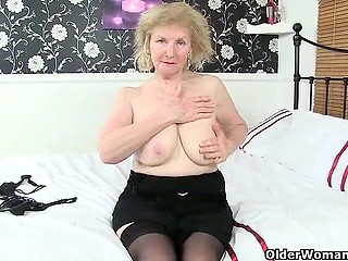 Provoking German grannies in extravagant lingerie masturbate in awesome compilation