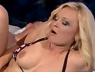 Blonde-haired hottie from Serbia is doing everything possible to make partner cum on her tits 5