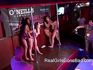 Video is filmed in one of the public bars and it's about real girls shaking naked asses in front of people