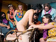 To burn calories fast girl gets masturbated by friends at the party instead of exercises 7