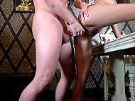 After blowjob in car, long-legged chick Gianna Dior is nicely drilled by lover in hotel room 6