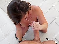 Buddy in costume appreciates the way slut Maddy O'Reilly polishes his throbbing cock 7