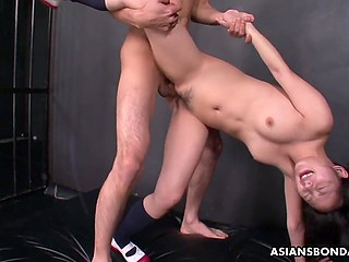 Lovely Japanese girl takes part in awesome group sex with several excited buddies