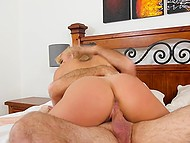 Old man relaxes in bathtub and hot stepdaughter with tanned body comes to him for fuck 4