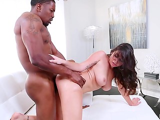 Karlee Grey will definitely reach bright orgasm because her partner is black stallion with big cock