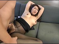 Japanese nympho manages to fuck even when her husband is nearby