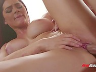 Coition helps gorgeous girl Skyla Novea with big breasts receive maximum pleasure from massage