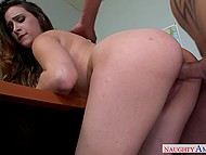 Experienced teacher drills in empty classroom bimbo student with great tits Ashley Adams