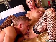 Alone cougar Brandi Love traps handsome neighbor inside bedroom to have fantastic sex
