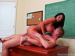 Student can't refuse to fuck sultry teacher Ava Addams with hefty tits in exchange for a good mark