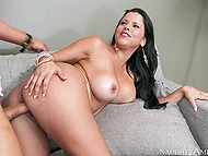 Friend comes to Diamond Kitty's stepson and lustful Latina takes his cock under control 6