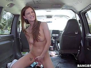 Guys have Sybian machine in the minivan and they offer winsome girl to check it