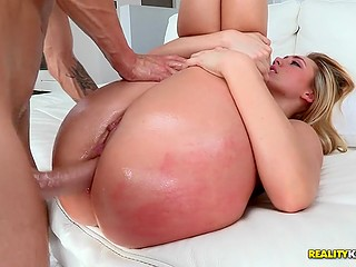 It is enough to look at AJ Applegate's big booty to realize that a huge cock will easily fit inside it