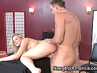 Customer fucks tight pussy of waitress Alexis Texas with big ass and it's better than tips