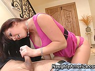 Man's wife should come back soon but beauty Jayden Jaymes sucks and rides cock anyway 6