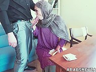 Man offers enticing Arab chick money and finally gets access to her trimmed snatch 7