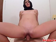 Impudent man visits apartment of Arab girl who for cash rides his fuckstick like champ 6