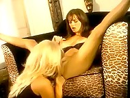 Danish blonde and brunette show on Cam how they like and point their fingers each other