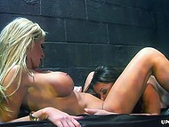 Guys absent so divas have to manage with carnal urges on their own in a dirty basement