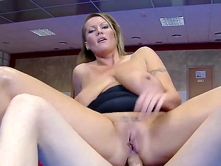Lucky boy has a chance to fuck asshole of swanky Hungarian mature Laura Orsolya with massive jugs