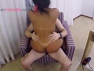Friend of Brazilian couple films masked girl with beautiful butt riding cock with pussy 10