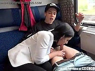 A married couple from Czech Republic rides the train, which finds partners for Amateur foursome