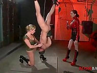 Blindfolded submissive has to lick mistress' cunt well if he wants to enjoy the freedom 4