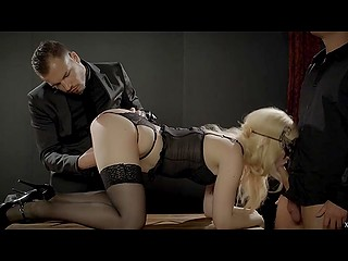 Elegant man made a great gift to his bride and invited handsome friend for MMF threesome
