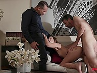 She is very thankful for the fact that her husband allows her to fuck other men