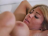 While nobody is at home charming blonde with beautiful figure satisfies her beloved man 7