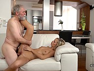 Apartment rent is much reduced when attractive girl takes old landlord's cock in pussy 6