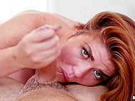 Dude came to visit mischievous red-haired classmate to satisfy her sexual desires after a hard day 8