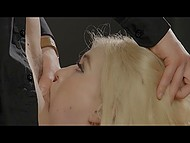 Two rich men invited sexy beauty Misha Cross to visit and had awesome threesome action 5