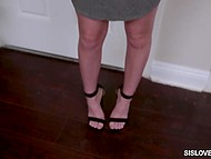 After a short conversation princess knelt down and gave superb blowjob to her stepbrother 5