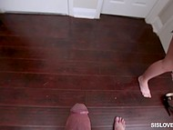 After a short conversation princess knelt down and gave superb blowjob to her stepbrother 7