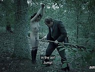 To finish an excellent day man catches lost babe in the woods and gets it on with her