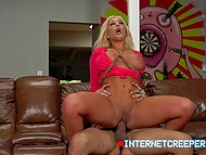 Latin creeper hooks up with chesty blonde Brandi Bae and brings at his place for proper drilling