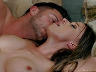 Tired guy will have possibility to relax only after he fucks beautiful girlfriend's pussy 9