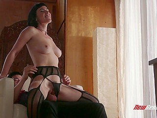 Brunette Olive Glass is a hotwife and it gives her right to spread legs for men other than husband