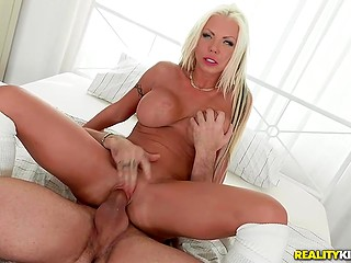 Amazing blonde Barbie Sins with sizable chest has made the right choice entering the porn business