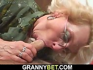 Kind boy returns phone to sweet granny Jessika Makarov and for that is rewarded with sex