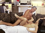 Not to disturb loved guy from working young porn-model has...