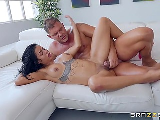 Fitness girl Canela Skin has awesome big ass and that explains why Nacho Vidal wants to shove penis inside