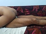 Indian girl hides her face being penetrated by man in cowgirl and doggystyle sex positions 4