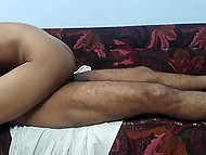 Indian girl hides her face being penetrated by man in cowgirl and doggystyle sex positions 5