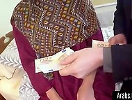 Arab looker gives male a hint that she wants money and if he pays her they can do it 4