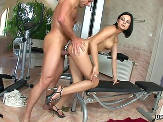 Dark-haired personal assistant is always ready to please generous boss with her sexy body
